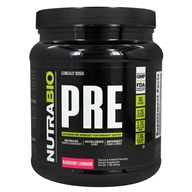 NutraBio - PRE Workout Raspberry Lemonade - 465 Grams