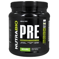 NutraBio - PRE Workout Powder Green Apple - 572 Gram(s)