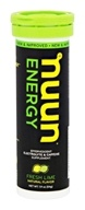 Nuun - Energy Effervescent Electrolyte & Caffeine Supplement Fresh Lime - 10 Tablets
