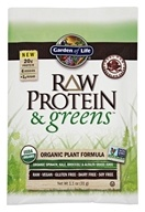 Garden of Life - Raw Protein & Greens Organic Plant Formula Real Raw Chocolate Cacao - 1.1 oz.