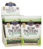 Garden of Life - Raw Protein & Greens Organic Plant Formula Real Raw Chocolate Cacao - 10 Packet(s)