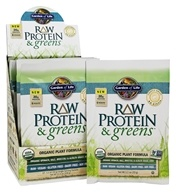 Garden of Life - Raw Protein & Greens Organic Plant Formula Lightly Sweet - 10 Packet(s)