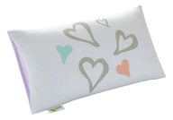 Greenbuds - Organic Cotton Toddler Pillow Cover Abstract Affection 12 in. x 20 in. Hearts