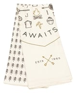 Danica Studio - 100% Cotton Dish Towel Adventure Awaits - 2 Towel(s)