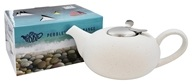 Now Designs - London Pottery Pebble Teapot White Flecks - 4 Cup(s)