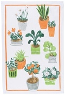 Now Designs - 100% Cotton Dish Towel Potted Plants - 1 Towel(s)