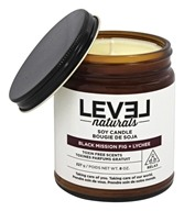 Level Naturals - Soy Candle Black Mission Fig + Lychee - 8 oz.