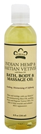 Nubian Heritage - Bath, Body & Massage Oil Indian Hemp & Haitian Vetiver - 8 oz.