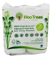 NooTrees - 100% Virgin Ecoluxe Bamboo 3-Ply Toilet Rolls - 4 Roulements