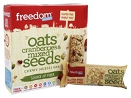 Freedom Foods - Gluten Free Chewy Muesli Bar Oats, Cranberries and Mixed Seeds - 7.2 oz.
