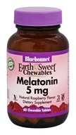 Bluebonnet Nutrition - EarthSweet Chewables Melatonin Natural Raspberry Flavor 5 mg. - 60 Chewable Tablets