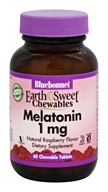 Bluebonnet Nutrition - EarthSweet Chewables Melatonin Natural Raspberry Flavor 1 mg. - 60 Chewable Tablets