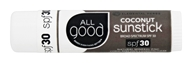Elemental Herbs - All Good Sunstick Coconut 30 SPF - 0.6 oz.