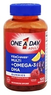 One A Day - VitaCraves Gummies Plus Omega-3 DHA Fruit Punch - 100 Gummies