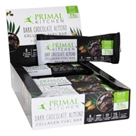 Primal Kitchen - Gluten Free Almond Bars Made with Grass-Fed Collagen Dark Chocolate - 12 Bars
