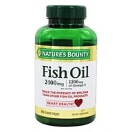 Nature's Bounty - Odor-Less Double Strength Fish Oil 2400 mg. - 90 Coated Softgels