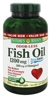 Nature's Bounty - Odor-Less Fish Oil 1200 mg. - 200 Coated Softgels