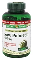 Nature's Bounty - Natural Whole Herb Saw Palmetto 450 mg. - 250 Capsules