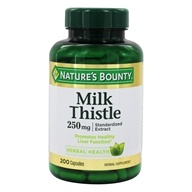 Nature's Bounty - Standardized Extract Milk Thistle 250 mg. - 200 Capsules
