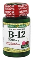 Nature's Bounty - Vitamin B-12 Natural Cherry Flavor 5000 mcg. - 40 Quick Dissolve Tablets