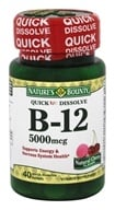 Nature's Bounty - Vitamin B12 Natural Cherry Flavor 5000 mcg. - 40 Quick Dissolve Tablets