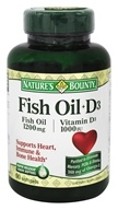Nature's Bounty - Fish Oil 1200 mg. plus Vitamin D3 1000 IU - 90 Softgels