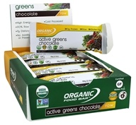 Organic Food Bar - Active Greens Chocolate - 12 Bars