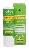 Babo Botanicals - Nutri-Soothe Lip Treatment Coconut Apple 15 SPF - 0.15 oz.
