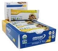 Organic Food Bar - Omega-3 Flax - 12 Bars