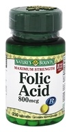 Nature's Bounty - Maximum Strength Folic Acid 800 mcg. - 250 Tablet(s)
