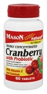 Mason Natural - Cranberry with Probiotic Highly Concentrated - 60 Tablets
