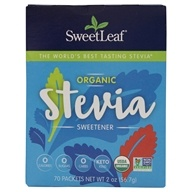 SweetLeaf - Organic Stevia Sweetener - 70 Packet(s)