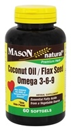 Mason Natural - Coconut Oil / Flax Seed / Omega 3-6-9 - 60 Softgels