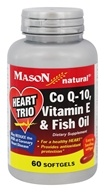 Mason Natural - Heart Trio: CoQ10, Vitamin E & Fish Oil - 60 Softgels