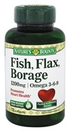 Fish, Flax, Borage 1200 mg. - 72 Softgels