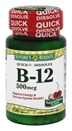 Nature's Bounty - Vitamin B12 Natural Cherry Flavor 500 mcg. - 100 Quick Dissolve Tablets