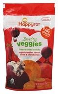 HappyFamily - Organic HappyTot Love My Veggies Freeze-Dried Snacks Apples, Carrots, Beets & Strawberries - 0.88 oz.