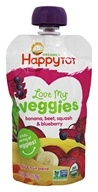 HappyFamily - Organic HappyTot Love My Veggies Pouches Banana, Beet, Squash & Blueberry - 4.22 oz.