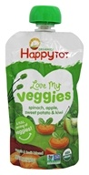 HappyFamily - Organic HappyTot Love My Veggies Pouches Spinach, Apple, Sweet Potato & Kiwi - 4.22 oz.