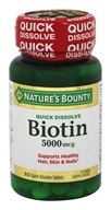 Nature's Bounty - Biotin 5000 mcg. - 60 Quick Dissolve Tablets