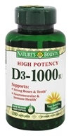 Nature's Bounty - High Potency Vitamin D3 1000 IU - 250 Softgels