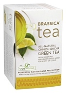 Brassica - All Natural Chinese Sencha Green Tea with truebroc Lemon - 16 Tea Bags