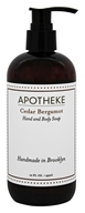 Apotheke - Hand and Body Liquid Soap Cedar Bergamot - 12 oz.