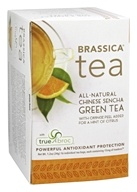 Brassica - All Natural Chinese Sencha Green Tea with truebroc Orange - 16 Tea Bags