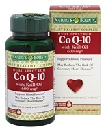 Nature's Bounty - Dual Spectrum CoQ-10 With Krill Oil 600 mg. - 30 Softgels