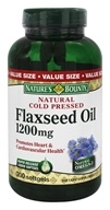 Nature's Bounty - Natural Cold Pressed Flaxseed Oil 1200 mg. - 200 Softgels