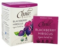 Choice Organic Teas - Gourmet Herbal Tea Blackberry Hibiscus - 16 Tea Bags