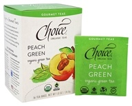 Choice Organic Teas - Gourmet Green Tea Peach Green - 16 Tea Bags