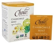 Choice Organic Teas - Gourmet Herbal Tea Chamomile Mint - 16 Tea Bags