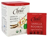 Choice Organic Teas - Gourmet Herbal Tea Vanilla Rooibos - 16 Tea Bags